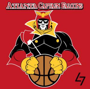 Atlanta Hawks + Captain Falcon: personagem de Smash Bros. e F-Zero ganha seu espaço entre os Falcões.