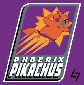 Phoenix Suns + Pikachu (Pokemon, The Video-Game)