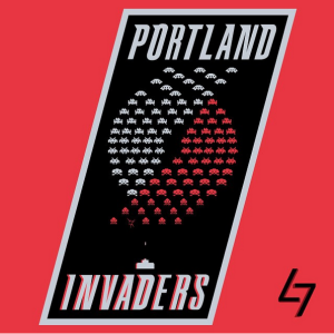 Portland Trail Blazers + Space Invaders