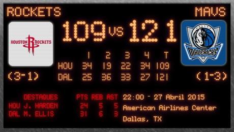Rockets-Mavericks (pós-jogo)